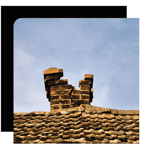 Old chimney requiring removal in Ottawa