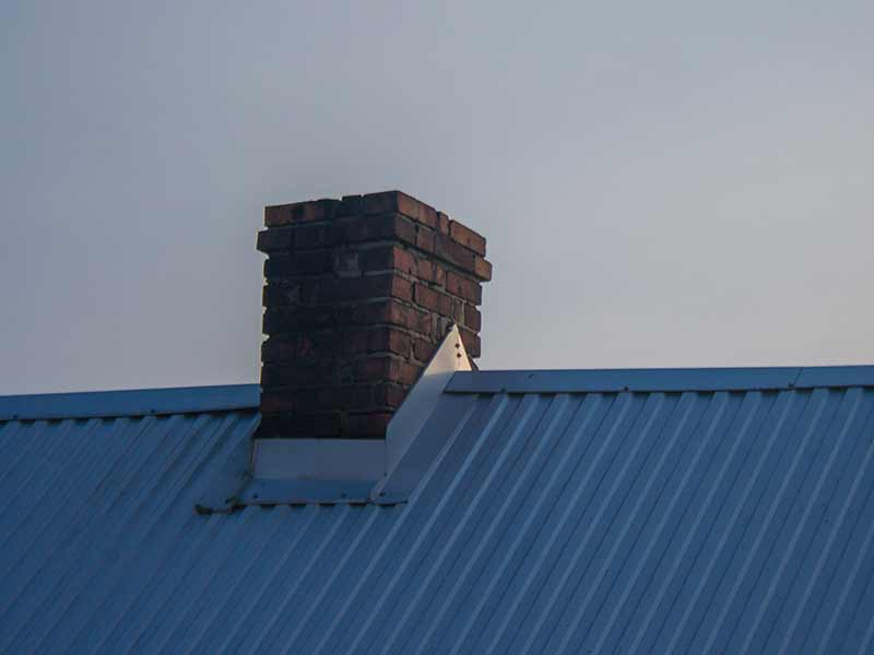 Chimney on a metal roof in Ottawa